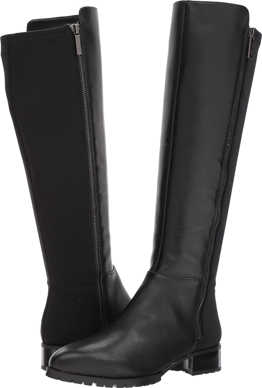 Nine West Women's Legretto Knee-High Boot B072WCN9YL 5.5 B(M) US Black/Black Leather