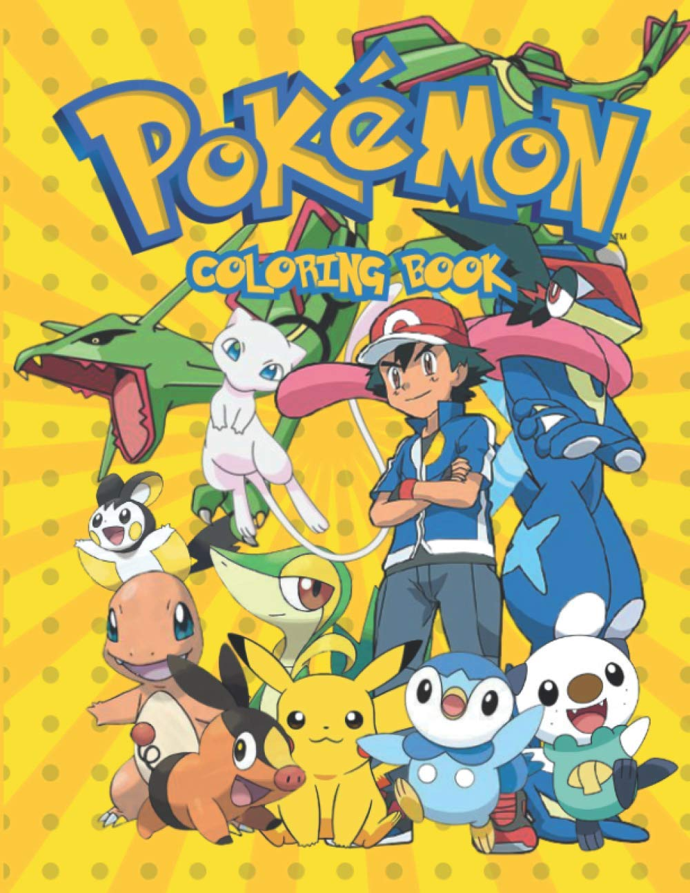 Pokemon Coloring Book: JUMBO Coloring Book For Kids | Ages 1-15+ Pokemon Coloring Book Gift For Children