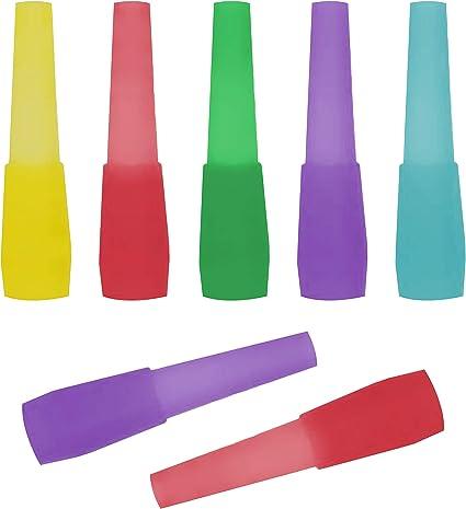 100 Zebra Color Male Hookah Tips Shisha mouthpiece Pipe Mya Plastic