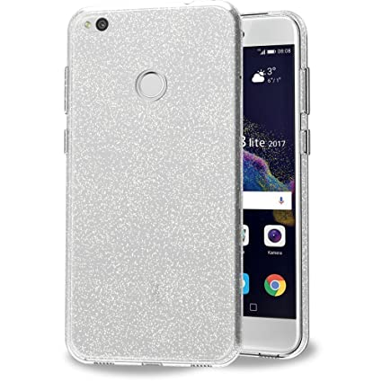iVoler Funda Carcasa Gel Crystal Quartz para Huawei P8 Lite 2017, Ultra Fina 0,33mm, Silicona TPU de Alta Resistencia y Flexibilidad