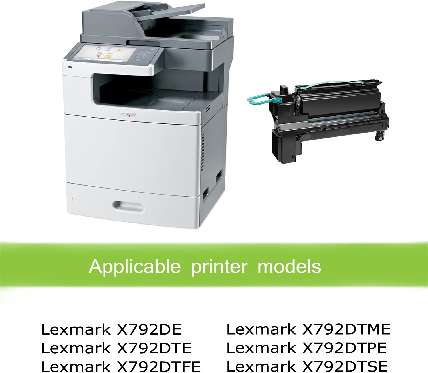 MS-410 MS-312 MS-610 MS-415 Awesometoner/ Remanufactured/ Made in USA Toner/ Cartridge/ Replacement/ for/ Lexmark 50F1000 50F000G 500 500G 501 MU310 use/ with/ MS-310 Black, 5-Pack MS-510 MS-315