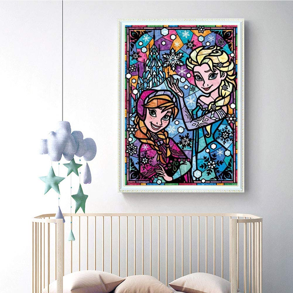 Cartoon-J1414, 12x16inch DIY 5D Round Full Drill Art Perfect for Relaxation and Home Wall Decor Diamond Painting Kits for Adults