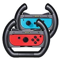 Nintendo Switch Steering Wheel KingTop 1 Pair Racing Wheels for Nintendo Switch Joy-Con
