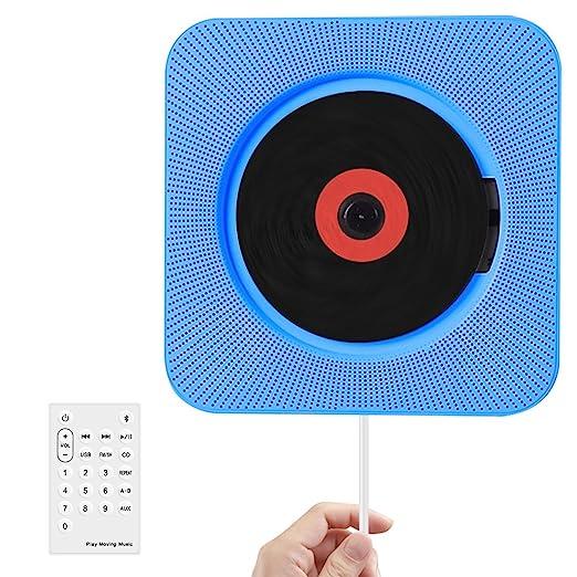 11 opinioni per Wrcibo Lettore CD, CD Player Montato a Parete per Casa con Telecomando,