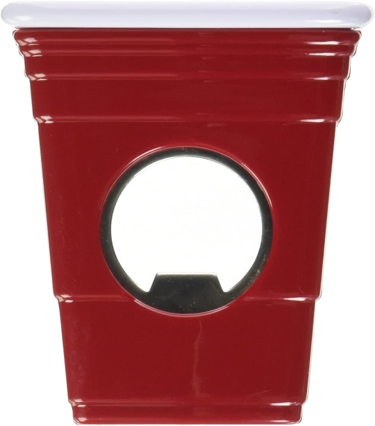 8.1-10.0 Red Cup Living 4548 Magnetic Bottle Slim Opener Red