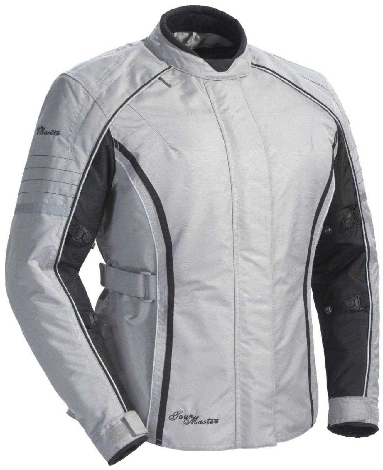 Tourmaster Womens Trinity Series 3 Silver Textile Jacket - Medium by Tourmaster