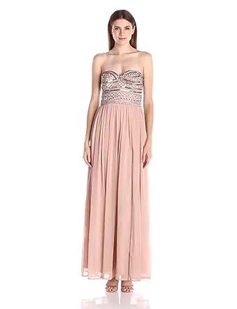 Amazon.com: Aidan by Aidan Mattox Women's Strapless Prom