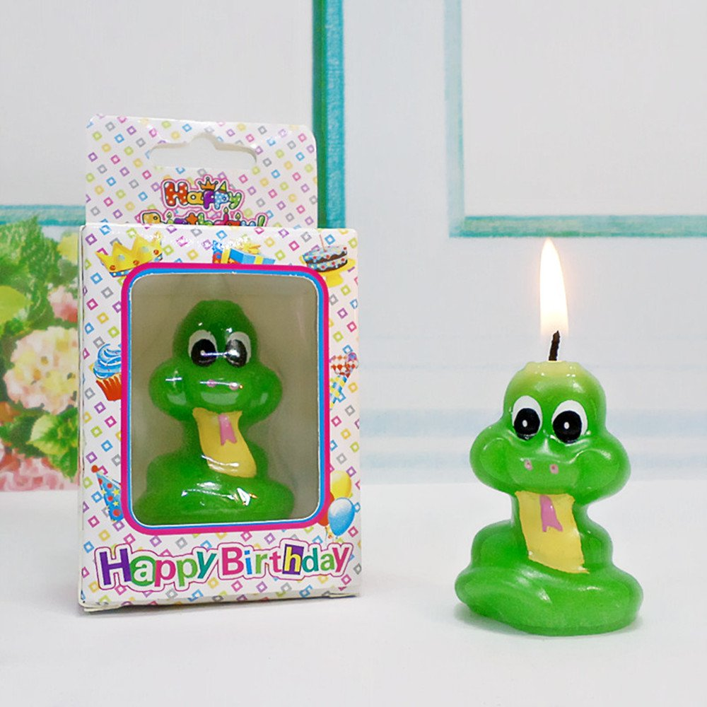 Birthday Gifts Cake Toppings Candles Cartoon Animal Party Decoration Candles for Kids' Birthday Parties (Little Snake) by none-branded (Image #3)