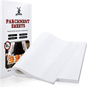 Hiware 250 Pcs Parchment Paper Sheets for Baking, 12 X 16 In, Fit for Half Sheet Pans, Precut Non-Stick Parchment Paper for Baking, Cooking, Grilling, Air Fryer and Steaming - 333 Sq.ft
