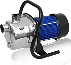 Homdox 850GPH Stainless Steel Booster Pump Shallow Well Pump Lawn Sprinkling Pump Sprinkler Water Pump for Home Garden Water Transport Irrigation