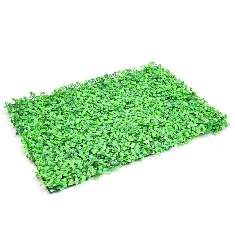 Artificial Plant Lawn Wall Emulational Ivy Leaf Plastic Garden Screen Rolls Landscaping Fake Turf Background Decorations Fence Plants Panels Diy Micro Landscape Floral Decor Yard Grass Fencing Rug Mat Paul03Daisy