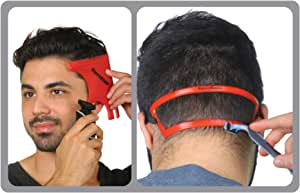 RevoHair & RevoNeck Haircut Tools - Hairline Shaping and Neck Hair Shaving Template Set For Perfect Lineup, Edge Up - One Size Fits All Grooming Kit - Used W/Clippers or Trimmers - Barber Supplies