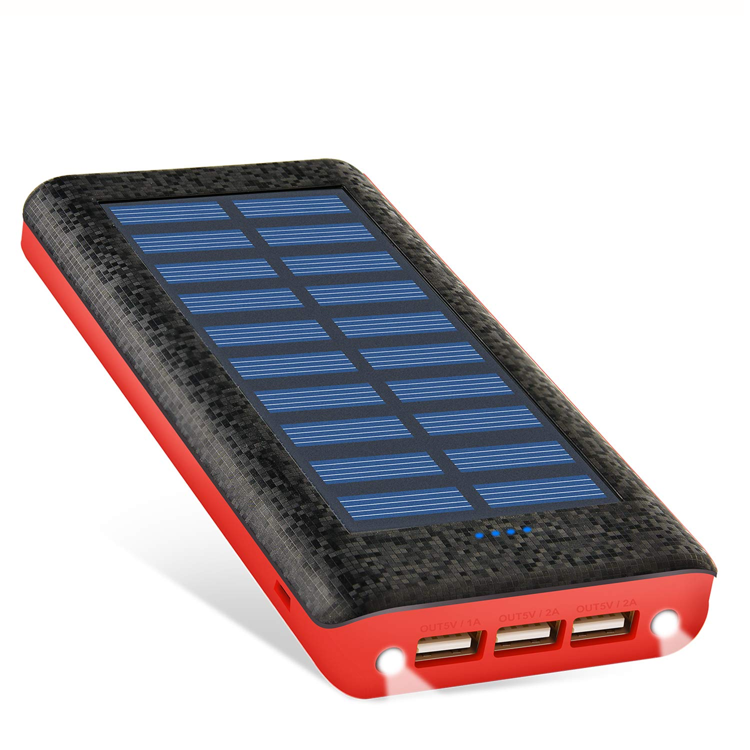 Solar Charger Portable Charger Power Bank 24000mah Huge Capacity 3 USB Output Ports Backup Battery Packs Compatible with Tablet HTC Android and Other Smart Devices