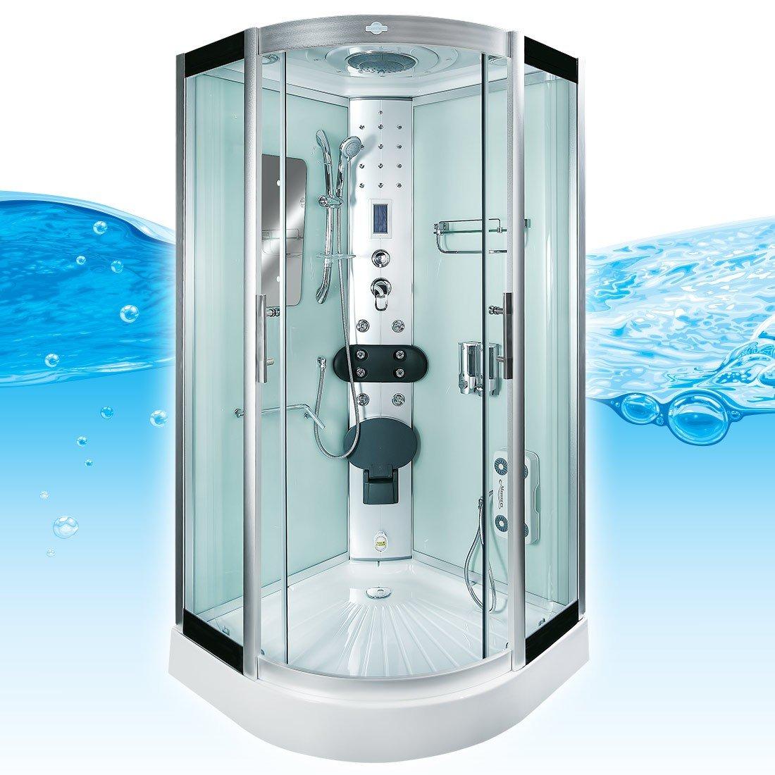 Duschkabine komplett  AcquaVapore DTP8046-5002 Dusche Dampfdusche Duschtempel ...