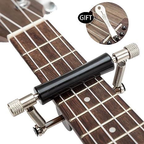 Cejilla deslizante para guitarra, ukelele con ruedas para guitarra ...