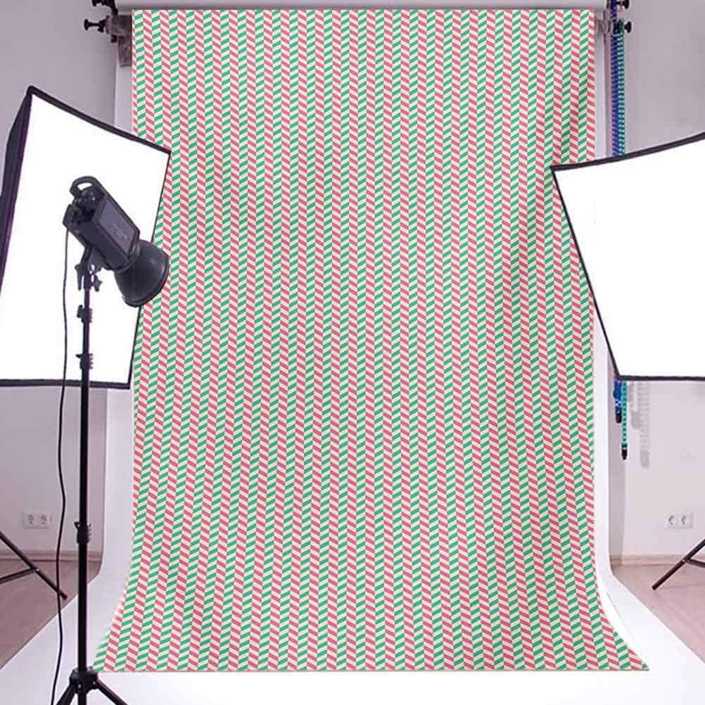 Geometric 10x15 FT Photography Backdrop Vertical White Stripes Different Colored Diagonal Lines Repeating Pattern Background for Baby Birthday Party Wedding Vinyl Studio Props Photography