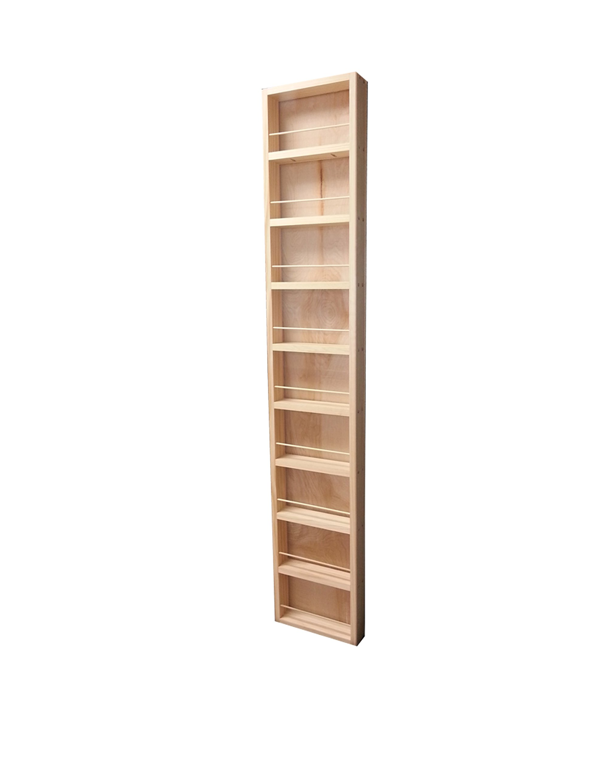 Wood Cabinets Direct Fulton Premium on The Wall Spice Rack, 62'' Height x 14'' Width x 2.5'' Deep