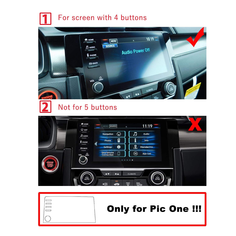 RUIYA 2PCS PET 2019 Civic LX EX Touring Si EX-L 4Holes In