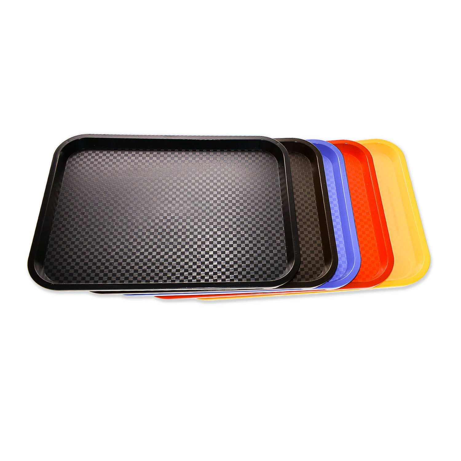 Source One Premium Food Service Tray 12 Inches x 16 Inches Perfect for Cafeterias, Schools, Quick Service Restaurants (2, Blue)