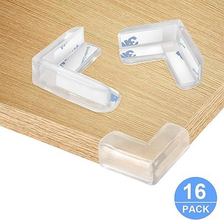 20 pieds de bande de pare-chocs en silicone + 4 pare-chocs de bord transparent Protections dangle transparentes de 6,1 m de protection dangle en silicone avec double face pour enfant b/éb/é