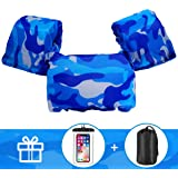 AmazeFan Kids Swim Life Jacket Vest for Swimming Pool, Swim Aid Floats with Waterproof Phone Pouch and Storage Bag…