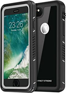 "IMPACTSTRONG iPhone 6/6s Plus Case, Waterproof Case [Fingerprint ID Compatible] Slim Full Body Protection for Apple iPhone 6 Plus & 6s Plus (5.5"") - FS Jet Black"