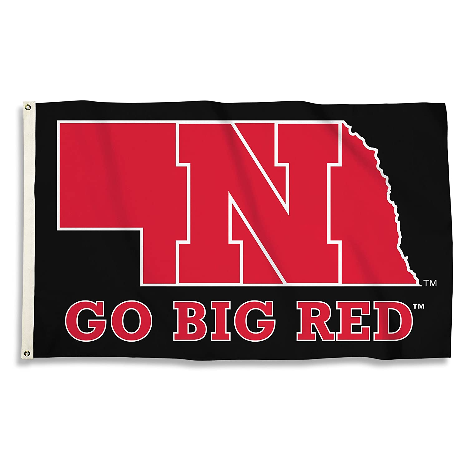 BSI PRODUCTS, INC. - Nebraska Cornhuskers 3'x5' Flag with Heavy-Duty Brass Grommets - UNL Football, Basketball & Baseball Pride - High Durability - Designed for Indoor or Outdoor Use - Great Gift Idea