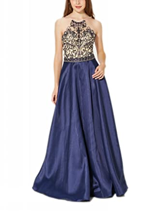 New Vogue Womens Sexy Long Mikado Hand Made Beading Prom Ball Gowns,Party Dress -