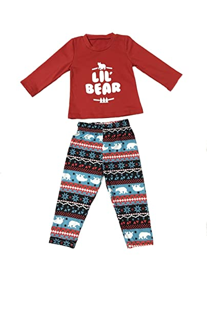 Pijamas Familia Navidad A Juego Con Dos Piezas Camisetas Top+Largo Pantalones Hombre Mujer Niños