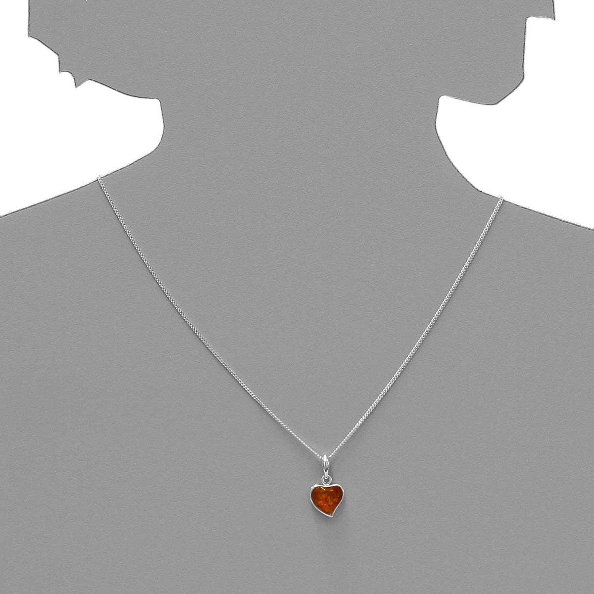 925 ? Two tone amber pendant silver silver tone Heavyweight amber pendant