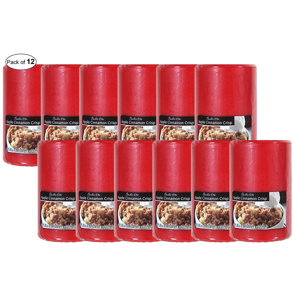Candle-Lite Pillar Apple Cinnamon Crisp (2.75x6) (Pack of 12) by Candle-Lite ®