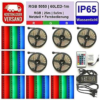 5m RGB SMD 5050 LED 150 Strip Streifen Leiste Flex Licht Band Farbwechsel Stripe