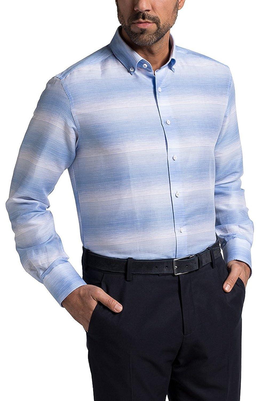 Eterna Camisa Formal - Rayas - con Botones - para Hombre