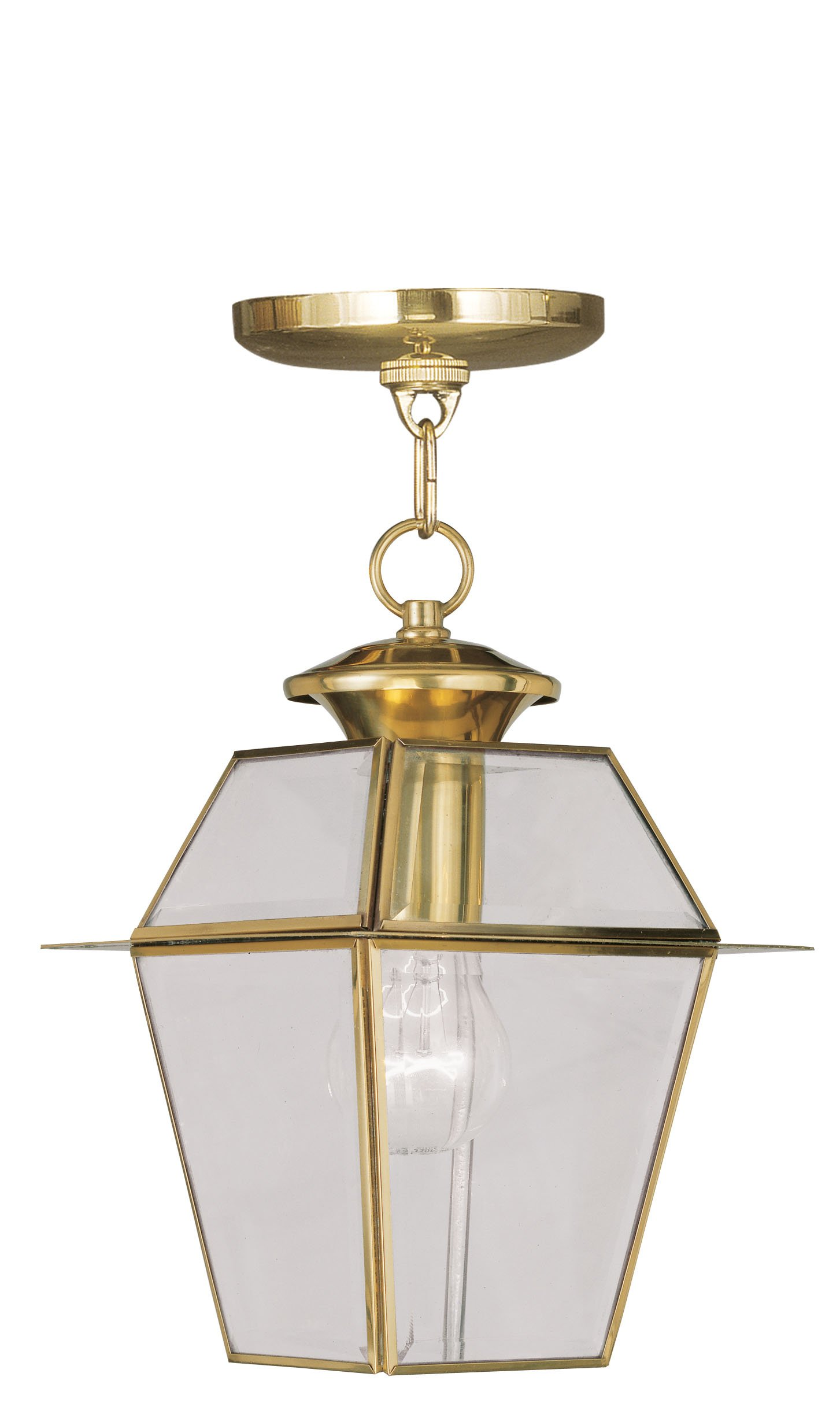 Livex Lighting 2183-02 Westover 1-Light Outdoor Hanging Lantern, Polished Brass by Livex Lighting