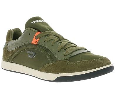 Diesel Starch Schuhe Herren Sneaker Turnschuhe Grün Y00674 PS308 T7428