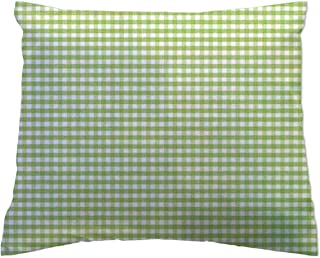 product image for SheetWorld Crib / Toddler Percale Baby Pillow Case - Baby Pillow Case - Sage Gingham Jersey Knit - Made In USA