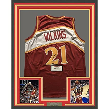 32826f26ef4 Image Unavailable. Image not available for. Color: Signed Dominique Wilkins  Jersey ...