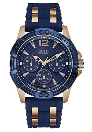 ecb414b6ae Montre Homme - Guess W0366G4 (bleu/rosegold): Guess: Amazon.fr: Montres