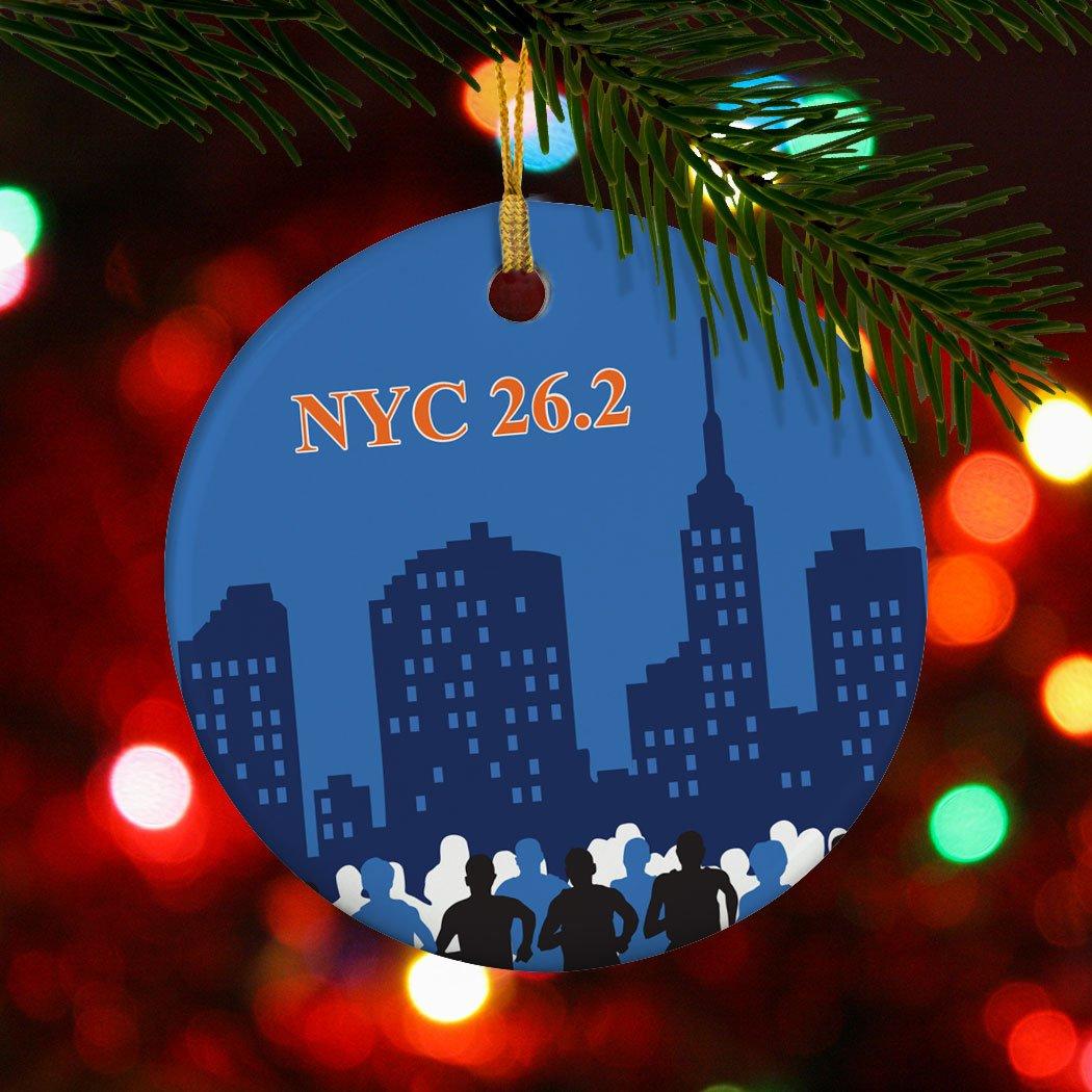 Amazon.com: NYC 26.2 Marathon Ornament | Running Porcelain Ornaments ...