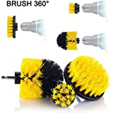 3pc Cleaning Brush Car Detailing Brush Drill Brush With Drill attachment Tub Cleaner Scrubber Cleaning Brushes automotive Detailing Spin Scrubber Set