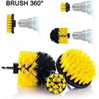 3pc Cleaning Brush Car Detailing Brush Drill Brush With Drill attachment Tub Cleaner Scrubber Cleaning Brushes…