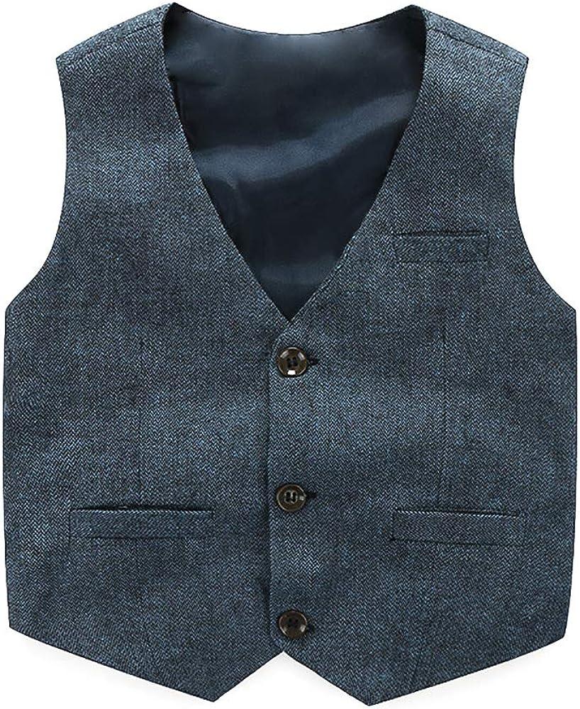 Pants Shirt Bow Tie Little Boy Formal Dress Suit Outfit Set Boys Suits Set 4pcs Christmas Clothes Set Vest