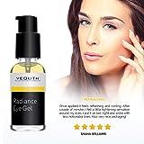 YEOUTH Eye Gel Cream for Anti Aging, Wrinkle Cream, Dark Circles, Puffy Eyes, Eye Bags, Crows Feet, with Hyaluronic Acid Serum and Tripeptide - 100% Guaranteed