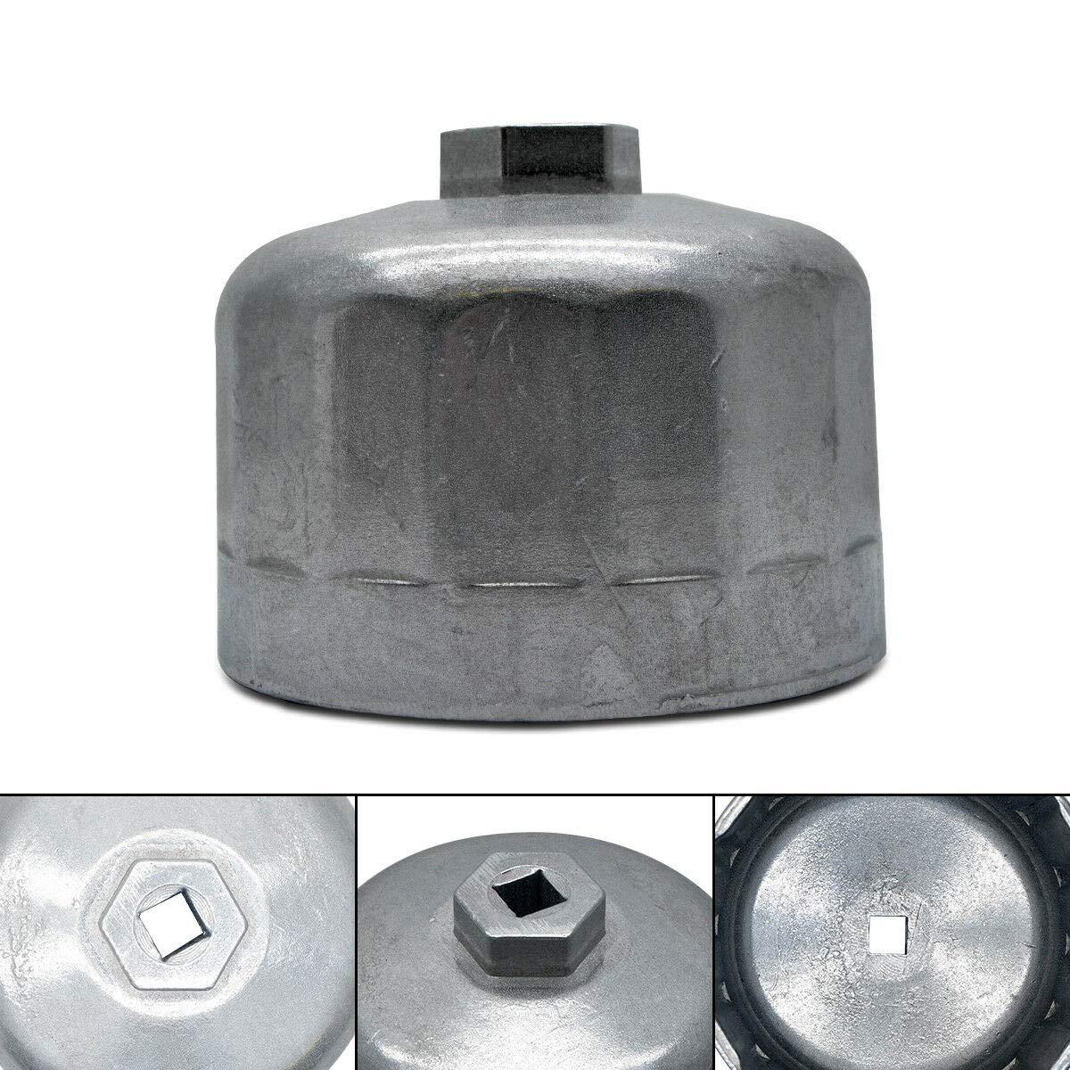 etc. 74 mm Maso Llave de Filtro de Aceite 14 Flautas para BMW Audi Benz de Aluminio