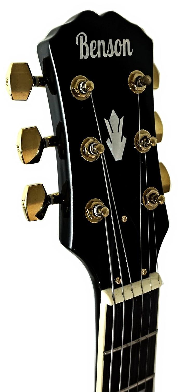 Guitarra eléctrica semi-acústica de cuerpo hueco de Benson ES, con doble corte, 1963 negro cristal, incluye la bolsa de la guitarra: Amazon.es: Instrumentos ...