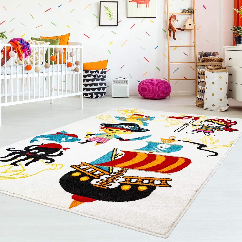 Plano Flor Kids Piratas Barco Pirata Papagayo MyShop24h Ni/ños Alfombra Alfombra Infantil