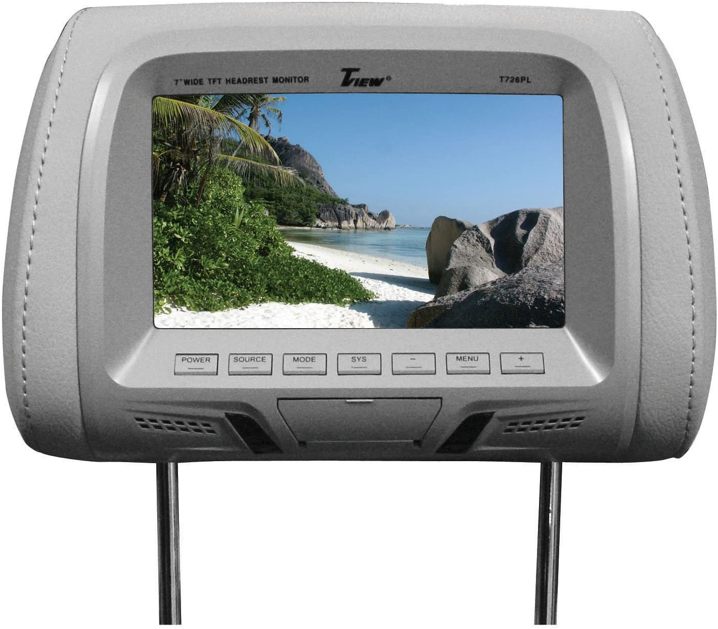 Tview T726plgr 7 Dual Gray Widescreen Headrest Car Monitors T726pl-gr UEi FBA/_t726plgr