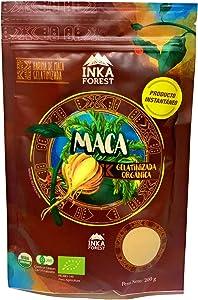 Organic Maca by Inka Forest Maca Peruvian Root Premium Grade Raw Superfood