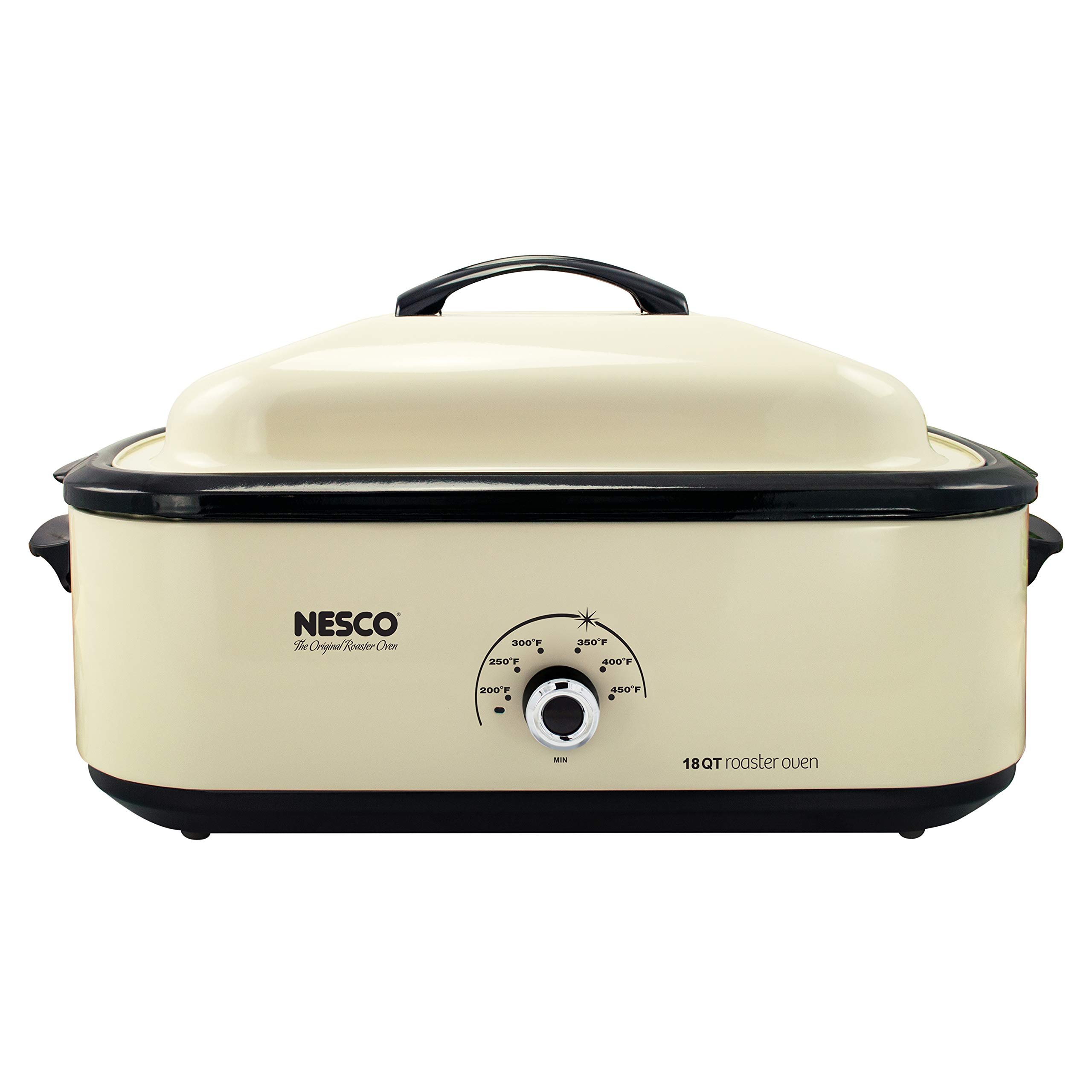 Nesco 4818-14 Classic Roaster Oven, 18-Quart, Porcelain Cookwell, Ivory by Nesco