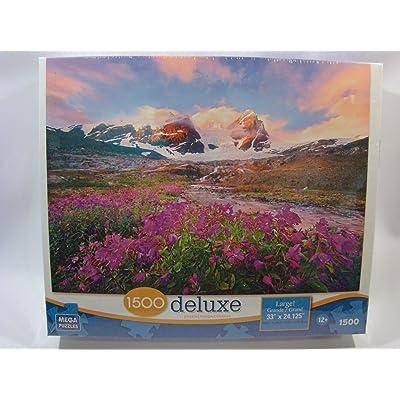 Mega Deluxe 1500 Piece Jigsaw Puzzle: Mountain Paradise: Toys & Games